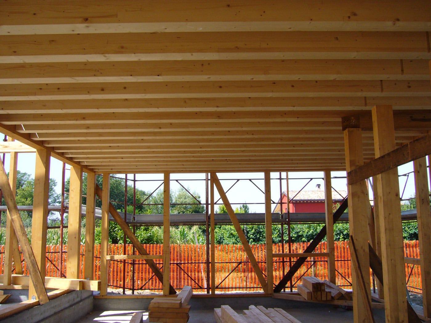 Strutture prefabbricate in legno con rivestimento for Strutture prefabbricate in legno
